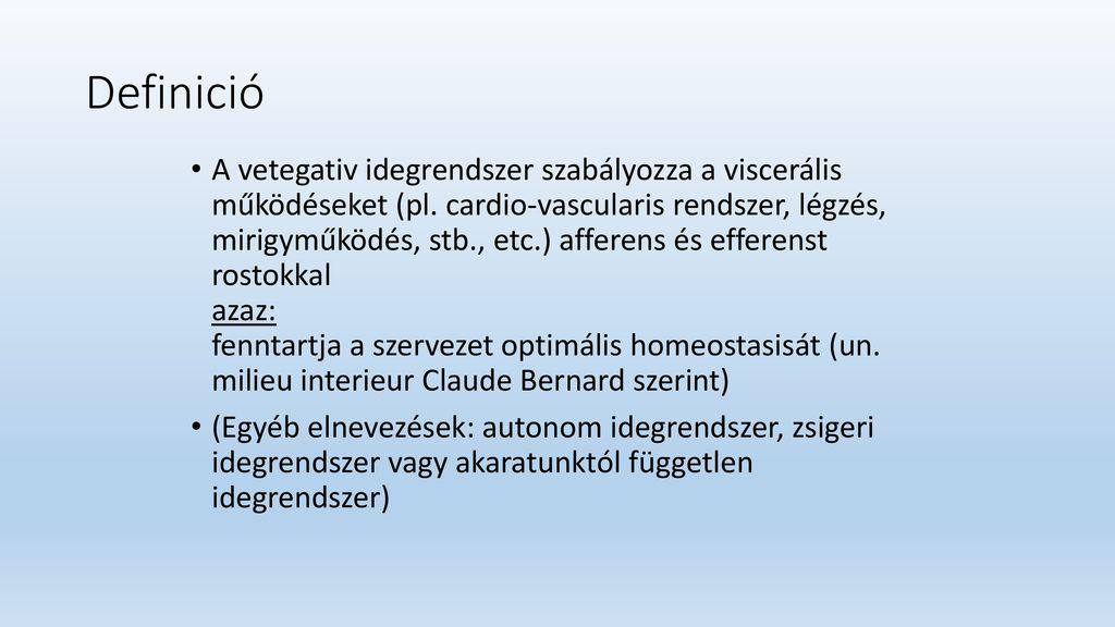 vegetatív-vaszkuláris típusú magas vérnyomás
