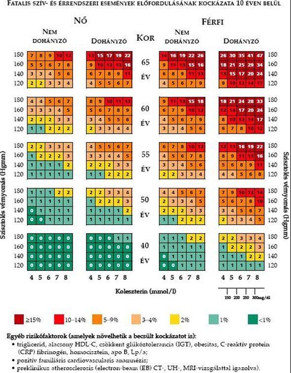 a magas vérnyomás vérnyomás-mutatói