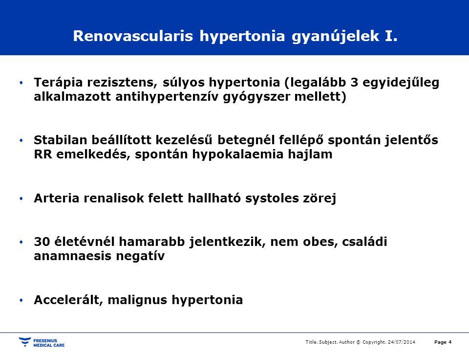 Renovascularis magas vérnyomás