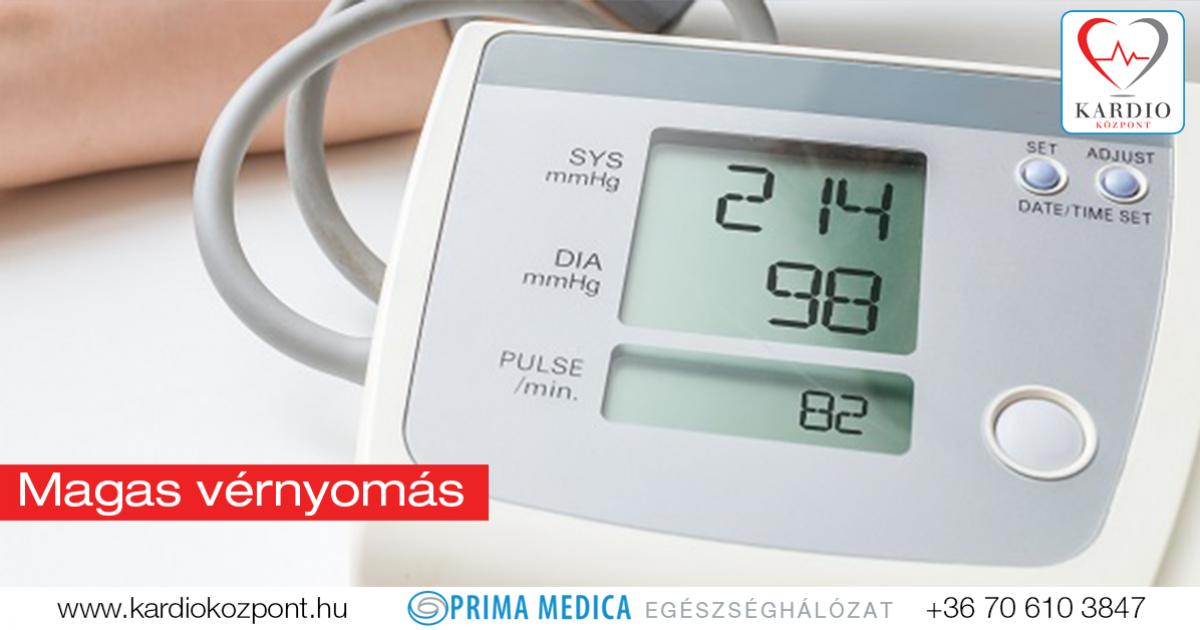 orvosi központok magas vérnyomás